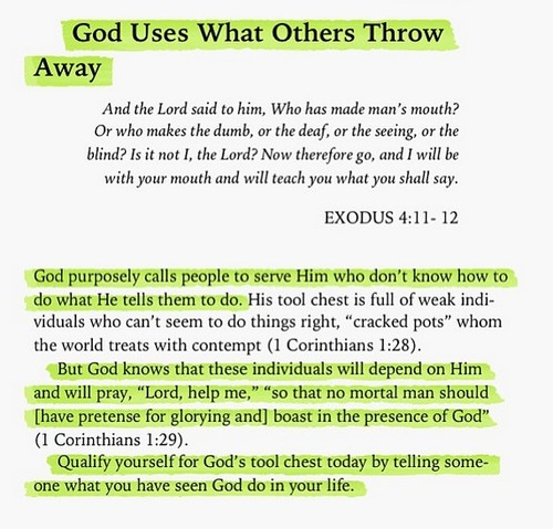 God Uses What Others Throw Away